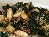 Gratin kale haricots blancs