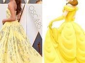 Alicia Vikander dans robe princesse comme Belle Oscars
