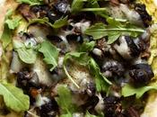 Pesto, Portobello, Snail Gruyere Pizza