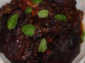 Gigot d'agneau lentement cuit, rouge épices (d'après Ramsay)