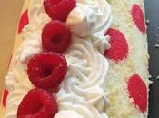 Gâteau roulé framboise