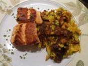 Galette légumes saumon grillé