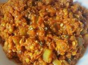 Dahl lentilles corail, carottes courgettes