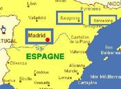 Places Madrid, Saragosse Barcelone (Espagne)