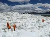 Effet réchauffement climatique glaciers tibétains