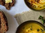 Soupe lentilles corail, menthe yaourt brebis