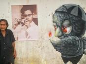 L'artiste oiseau rendent hommage Rama (Street art)