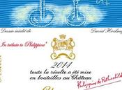 David Hockney illustre l'étiquette Château Mouton Rothschild 2014