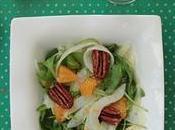 Noël vegan Salade fenouil clémentineet vinaigrette fumée