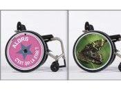 Showheel, flasques design pour fauteuil roulant