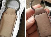 Accessoire porte-cles cuir