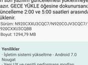 Mise jour vers Android Nougat dispo pour Galaxy Note5