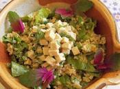 Tofu mariné salade Boulgour tahin (Vegan)