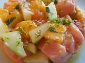 Tartare Saumon, Mangue, Concombre