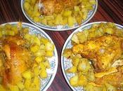 Poulet pommes terre curry (double cuisson)