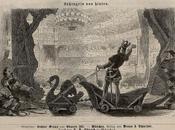 Karikatur: Lohengrin hinten Caricature: l'arrière avec Wagner l'ouvrage