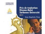 (Entretien) avec Jean-Baptiste Para, lauréat Grand Prix traduction Etienne Dolet-Sorbonne Université