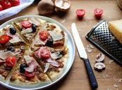 Pizza crème champignons Grana Padano