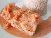 cabillaud sauce crevette...pour blog