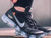 White Nike Vapormax Black feet