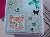 Carte anniversaire pour amie chats