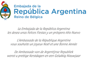 Carte vœux souriante l'Ambassade d'Argentine Belgique [Fin d'année]