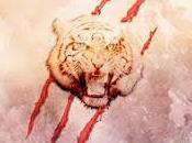 tigre travers cercle papier