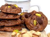 Cookies chocolat pistaches.