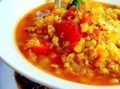 Soupe sorgo, lentilles rouges, haricots mungo germés