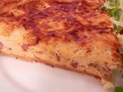 Quiche ricotta, jambon fromage brebis