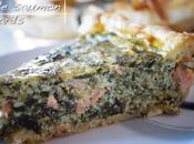 Tarte quiche épaisse saumon épinards