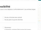 Séjours accessibles nouveaux filtres fonctionnalités d'AirbnB