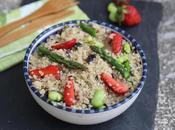 Salade quinoa printanière tartare d'algues