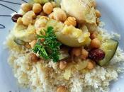 Couscous poulet, courgette pois chiche raisins secs