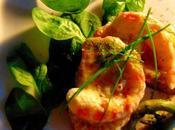 Croûtes crémeuses crevettes végétales