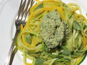 Spaghetti courgettes courgetti pesto végétal