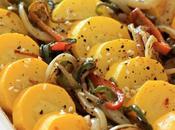 Salade Courgettes Jaunes Poivrons