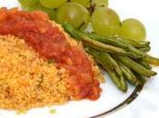 Couscous Tipiak parfumé, sauce tomates.
