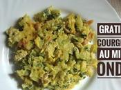 Gratin courgettes micro ondes