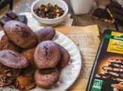Madeleines chocolat noir amandes entières caramélisées