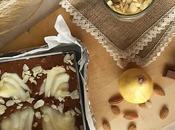 Recette brownie poires chocolat caramel