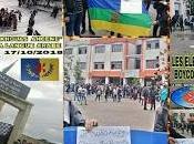 coordination MAK-Anavad Amérique nord soutient boycott cours d'arabe dans toutes écoles Kabylie félicite bravoure enfants