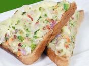 Recette pain grillé fromage légumes