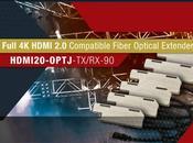Transmettez HDMI jusqu'à mètres avec Lightware HDMI20-OPTJ-TX/RX90