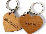 porte-clés gravés messages, forme cœur Command...