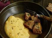 Sauté joues porc cidre polenta butternut