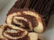 Bûche noël roulée chocolat