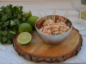 Calendrier l'Avent gourmand J*18 Crevettes citron vert coco coriandre