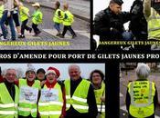 France Euro pour port Gilet Jaune prohibé