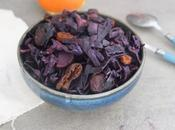 Chou rouge braisé fruits secs épices